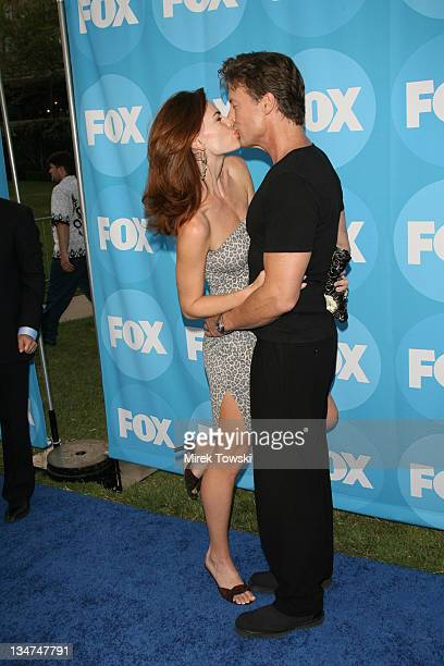 Justine Eyre and John Allen Nelson during FOX TCA Party - Red Carpet at Ritz Carlton Huntington Hotel in New York City, New York, United States.