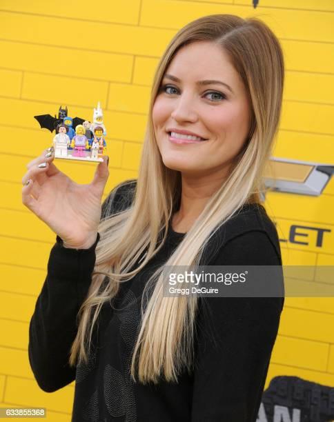 Justine Ezarik arrives at the premiere of Warner Bros Pictures' 'The LEGO Batman Movie' at Regency Village Theatre on February 4 2017 in Westwood...