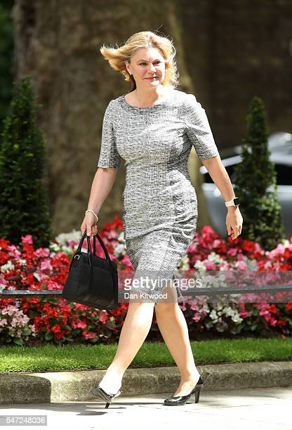 Justine Greening arrives at Downing Street where she is appointed as Education Secretary as Prime Minister Theresa May continues to appoint her...