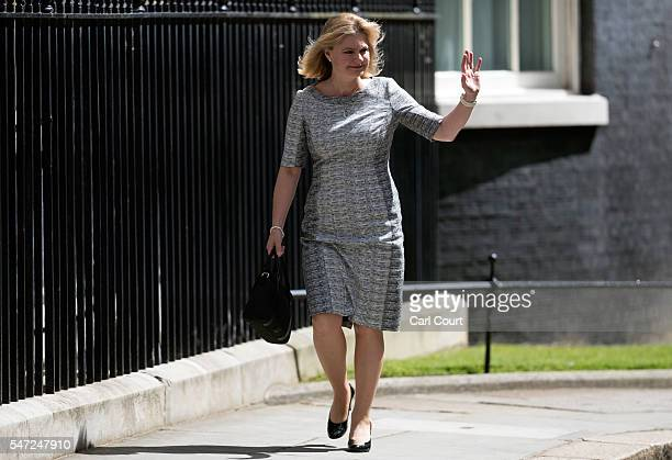Justine Greening arrives to meet Prime Minister Theresa May where she was appointed Secretary of State for Education at Downing Street on July 14...