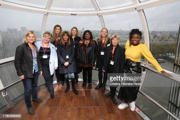 Justine Greening Emily Thornberry Natasha McElhone Riz Lateef Penny Mordaunt Diane Abbott Siân Berry Jude Kelly and Clara Amfo attend the Women of...