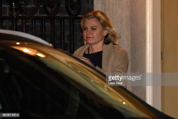 Justine Greening leaves 10 Downing Street after resigning from the position of Secretary of State for Education as Prime Minister Theresa May...