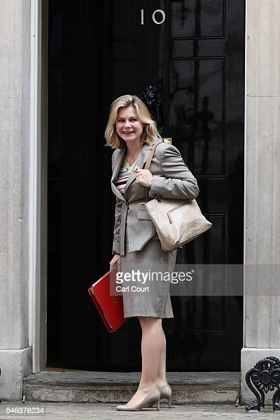 Justine Greening MP arrives to attend a Cabinet meeting at Downing Street on July 12 2016 in London England David Cameron will step aside tomorrow...