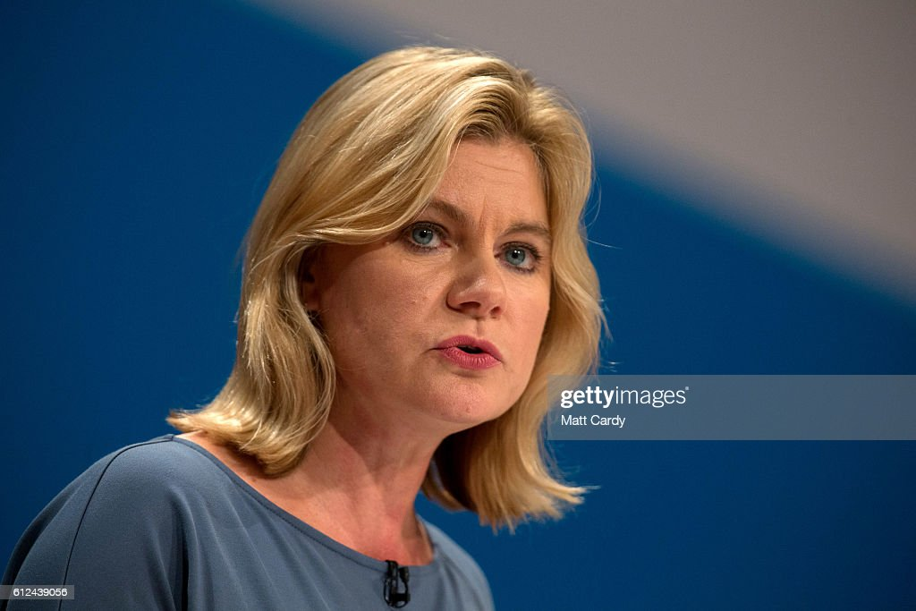 Justine Greening, Secretary of State for Education delivers a speech on the third day of the Conservative Party Conference 2016 at the ICC Birmingham on October 4, 2016 in Birmingham, England at the ICC Birmingham on October 4, 2016 in Birmingham, England. Ministers and senior Party members will address delegates throughout the day with a number of speeches discussing 'a society that works for everyone'.