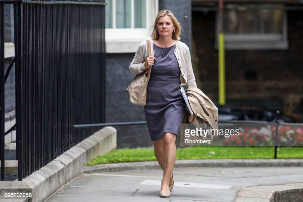 Justine Greening UK education secretary arrives at Downing Street in London UK on Monday June 12 2017 UK Prime Minister Theresa May will chair a...