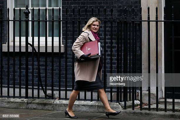 Justine Greening UK education secretary arrives to attend the weekly cabinet meeting at 10 Downing Street in London UK on Tuesday Jan 31 2017 Theresa...