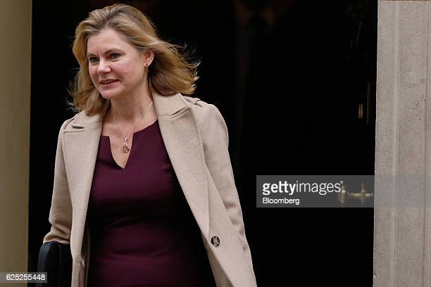 Justine Greening UK education secretary leaves following a weekly cabinet meeting at 10 Downing Street in London UK on Wednesday Nov 23 2016 Britain...