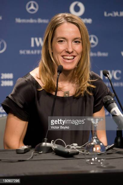 Justine Henin at the pressconference after winning the Laureus World Sportwoman of the Year at the Laureus World Sports Awards at the Mariinsky...