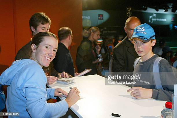 Justine Henin Hardenne arrives in the 'VIP Village' during the French Open Tennis tournament held at Roland Garros stadium in Paris France on June 2...