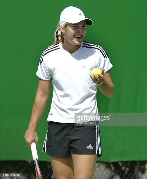 Justine HeninHardenne on practice court at Australian Open Melbourne January 21 2004