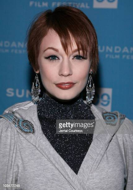 Justine Joli attends the premiere of Black Dynamite during the 2009 Sundance Film Festival at Library Center Theatre on January 18 2009