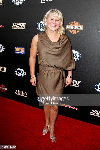 Justine Kish attends FOX Sports 1's 'The Ultimate Fighter' season premiere party at Lure on September 9 2014 in Hollywood California