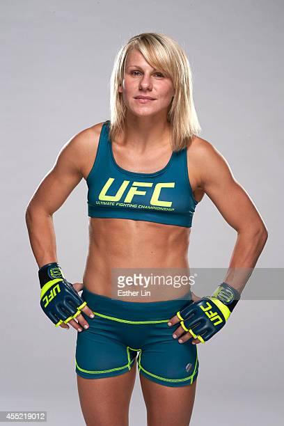 Justine Kish poses for a portrait during the TUF 20 Media Day session at the TUF gym on July 3 2014 in Las Vegas Nevada