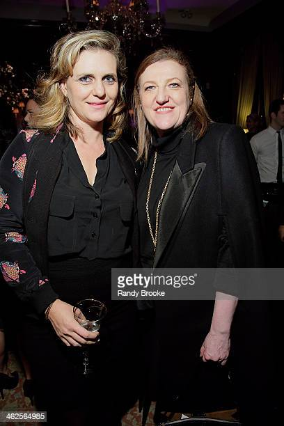 Justine Koons and Glenda Bailey attend the Stella McCartney Autumn 2014 presentation on January 13 2014 in New York City