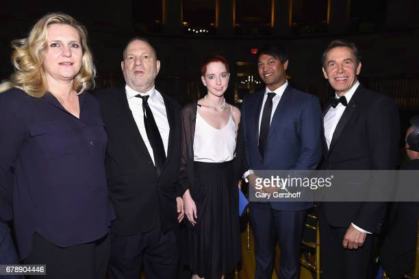Justine Koons, Harvey Weinstein, Remy Lily Weinstein, Saroo Brierley and Jeff Koons attend the International Centre for Missing and Exploited...