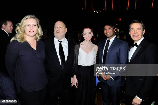 Justine Koons, Harvey Weinstein, Remy Weinstein, Saroo Brierley and Jeff Koons attend International Centre for Missing & Exploited Children 2017 Gala...