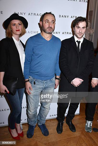 Justine Lamirand Dany Atrache and Emmanuel Delpech attend the Dany Atrache Spring Summer 2016 show as part of Paris Fashion Week on January 25 2016...