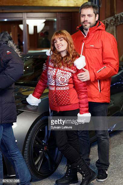 "Justine Le Pottier and Vincent Tirel arrive for opening ceremony of ""Les Arcs European Film Festival"" on December 10, 2016 in Les Arcs, France."