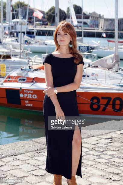 Justine Le Pottier attends day 4 photocall of 20th Festival of TV Fiction on September 15, 2018 in La Rochelle, France.