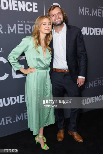 Justine Lupe and Colin Lupe attend photo call for ATT AUDIENCE Network's Mr Mercedes special SAG screening at Linwood Dunn Theater on September 10...