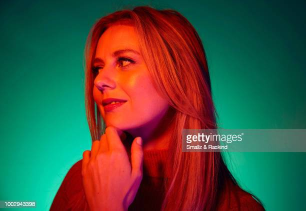 Justine Lupe from ATT AUDIENCE Network's 'Mr Mercedes' poses for a portrait in the Getty Images Portrait Studio powered by Pizza Hut at San Diego...