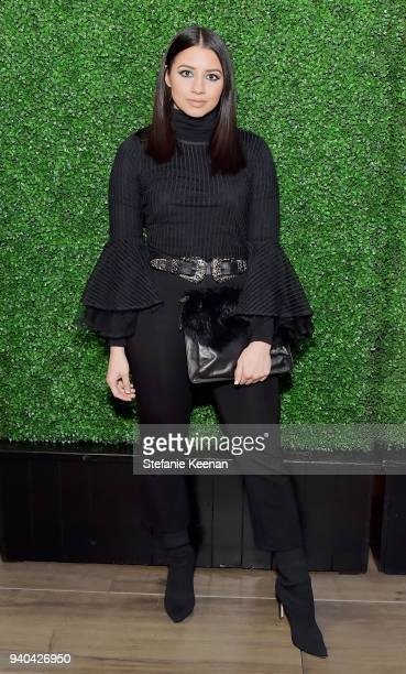 Justine Marjan attends KKWxMario Dinner at JeanGeorges Beverly Hills on March 31 2018 in Beverly Hills California