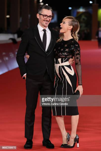 Justine Mattera and Fabrizio Cassata walk a red carpet for 'Good Food' during the 12th Rome Film Fest at Auditorium Parco Della Musica on October 30...