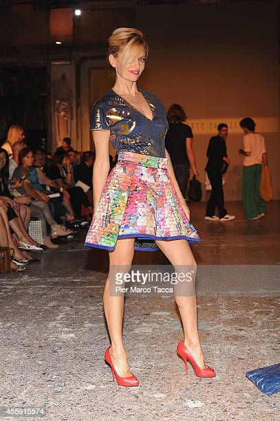 Justine Mattera attends Alberto Zambelli show during the Milan Fashion Week Womenswear Spring/Summer 2015 on September 22 2014 in Milan Italy