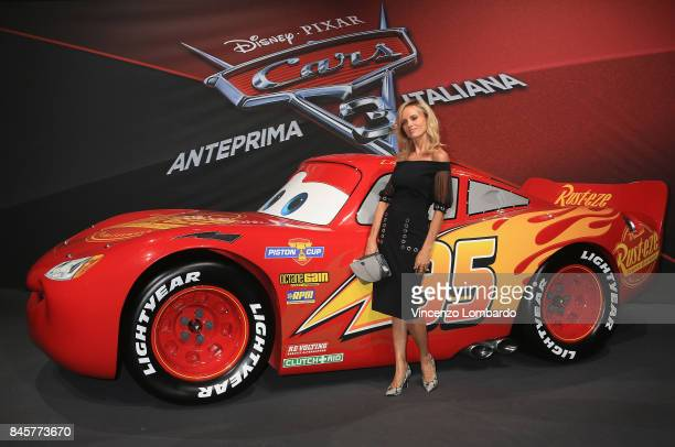 Justine Mattera attends Cars 3 photocall in Milan on September 11 2017 in Milan Italy