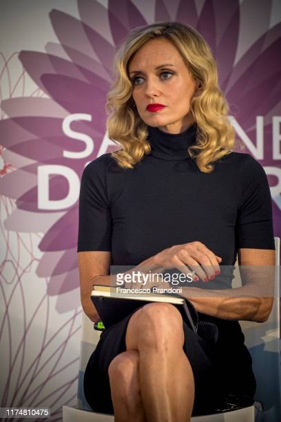 Justine Mattera attends Il Tempo Delle Donne Festival in Milan at Triennale Design Museum on September 15 2019 in Milan Italy