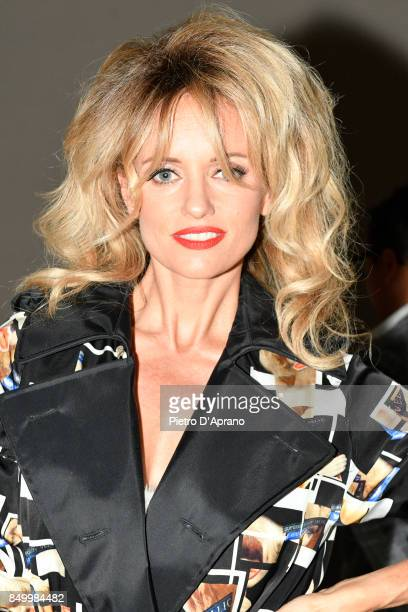 Justine Mattera attends the Alberto Zambelli show during Milan Fashion Week Spring/Summer 2018 on September 20 2017 in Milan Italy