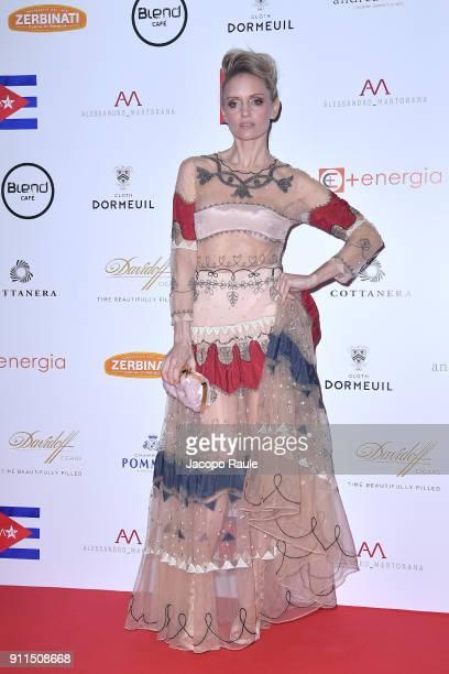 Justine Mattera attends the Alessandro Martorana Party on January 28 2018 in Milan Italy
