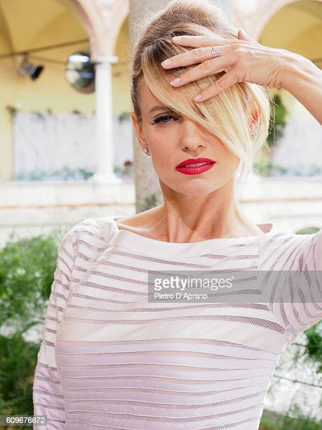 Justine Mattera attends the Luisa Beccaria show during Milan Fashion Week Spring/Summer 2017 on September 22 2016 in Milan Italy