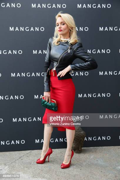 Justine Mattera attends the Mangano fashion show on May 26 2014 in Milan Italy