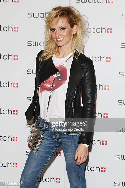 Justine Mattera attends the Swatch New Flagship Store Red Carpet on November 25 2014 in Milan Italy