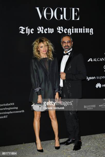Justine Mattera attends theVogue Italia 'The New Beginning' Party during Milan Fashion Week Spring/Summer 2018 on September 22 2017 in Milan Italy