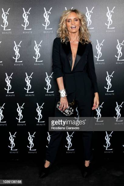 Justine Mattera attends Ysl Beauty Club Milan during Milan Fashion Week Spring/Summer 2019 on September 23 2018 in Milan Italy