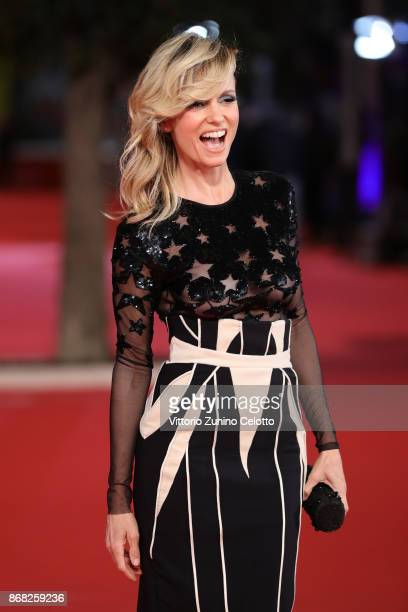 Justine Mattera walks a red carpet for 'Good Food' during the 12th Rome Film Fest at Auditorium Parco Della Musica on October 30 2017 in Rome Italy