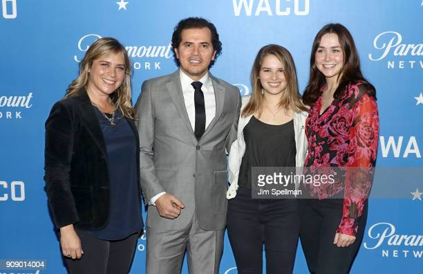 Justine Maurer actor John Leguizamo Allegra Leguizamo and guest attend the Waco world premiere at Jazz at Lincoln Center on January 22 2018 in New...