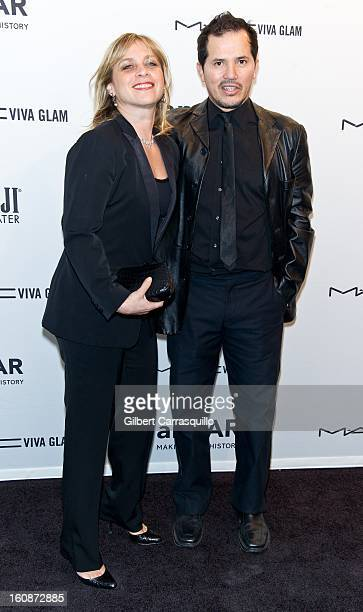 Justine Maurer and actor John Leguizamo attend amfAR New York Gala To Kick Off Fall 2013 Fashion Week at Cipriani Wall Street on February 6 2013 in...
