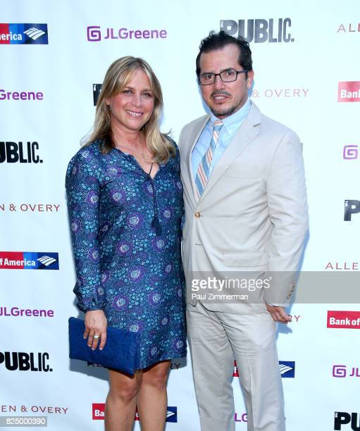 Justine Maurer and John Leguizamo attend 'A Midsummer Night's Dream' Opening Night at Delacorte Theater on July 31 2017 in New York City