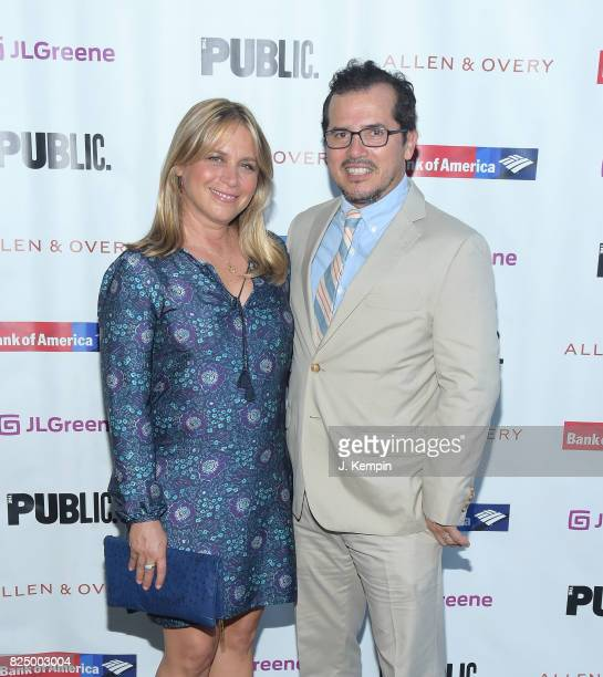 Justine Maurer and John Leguizamo attend A Midsummer Night's Dream Opening Night at Delacorte Theater on July 31 2017 in New York City