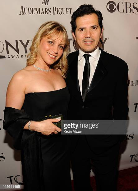 Justine Maurer and John Leguizamo attend the 65th Annual Tony Awards at the Beacon Theatre on June 12 2011 in New York City