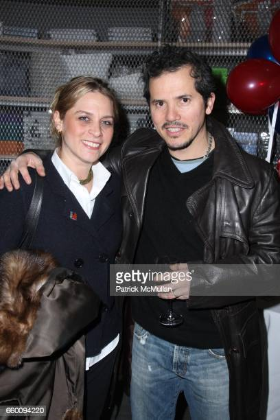 Justine Maurer and John Leguizamo attend THE NEW YORK TIMES Celebrates the 2009 INAUGURATION at The New Museum on January 20 2009 in New York City