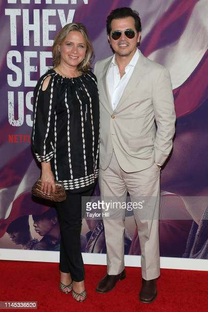 Justine Maurer and John Leguizamo attend the world premiere of When They See Us at The Apollo Theater on May 20 2019 in New York City