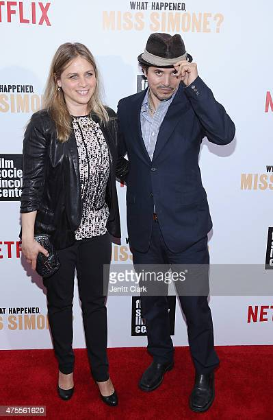 Justine Maurer and John Leguizamo attends the What Happened Miss Simone New York premiere at The Apollo Theater on June 1 2015 in New York City