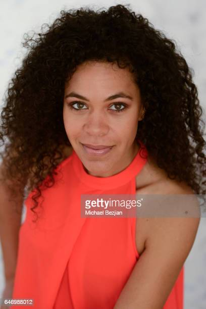 Justine Patrick poses for portraits at New Faces at the Artists Project on March 1, 2017 in Los Angeles, California.