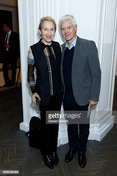 Justine Picardie and John Frieda attend a private view of of the London Every Day photography project by Andrea Hamilton exhibition for the Mayor's...