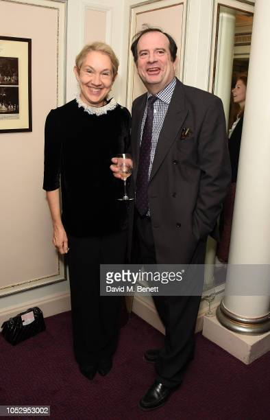 Justine Picardie and Philip Astor attend the English National Opera production of 'Porgy Bess' at London Coliseum on October 24 2018 in London England