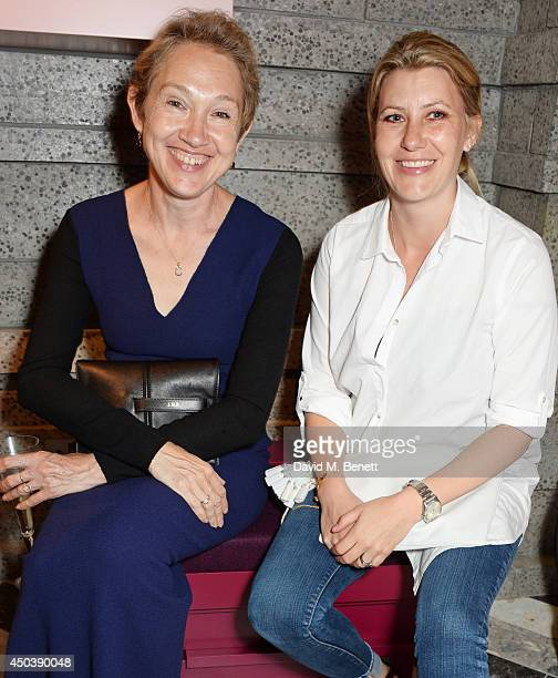 Justine Picardie and Sara Parker Bowles attend the opening of Roksanda on Mount Street on June 10 2014 in London England